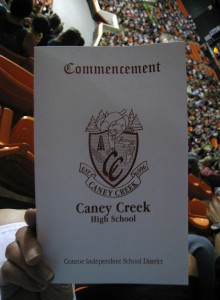 photo of a high school commencement program