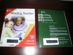 "photo of ""The Reading Teacher"" & ""Reading Research Quarterly"""