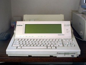 photo of an early stand alone word processor